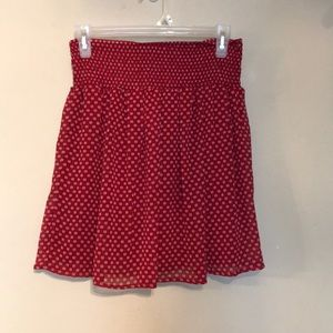 Red Old Navy skirt